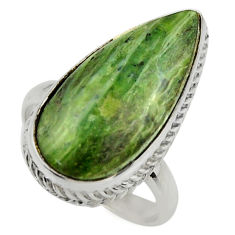 925 silver 14.45cts natural pietersite (african) solitaire ring size 9 r28520