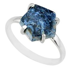925 silver 5.13cts natural pietersite (african) solitaire ring size 9 r82024