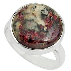 925 silver 12.96cts natural pink eudialyte solitaire ring jewelry size 8 r26490