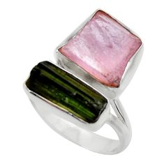 925 silver 12.89cts natural pink kunzite rough ring jewelry size 7 r29654