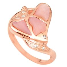 925 silver natural pink opal topaz 14k rose gold ring size 8 a76314 c15120