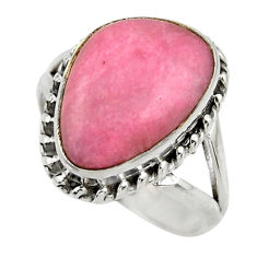925 silver 9.77cts natural pink petalite solitaire ring jewelry size 8.5 r28444