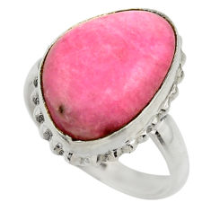 925 silver 12.69cts natural pink petalite solitaire ring jewelry size 8.5 r28458