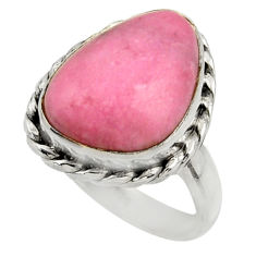 925 silver 10.12cts natural pink petalite solitaire ring jewelry size 7 r28453