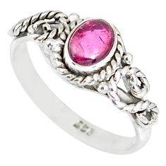 925 silver 1.51cts natural pink tourmaline solitaire ring jewelry size 5 r82351
