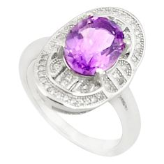 925 sterling silver natural purple amethyst oval topaz ring size 8.5 c17935