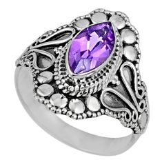 925 silver 2.21cts natural purple amethyst solitaire ring jewelry size 7 r61064