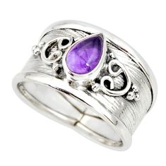925 silver 2.23cts natural purple amethyst solitaire ring jewelry size 8 r34464