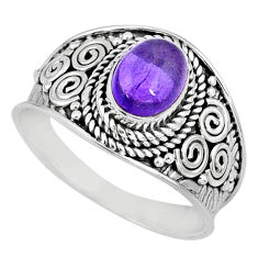 925 silver 2.13cts natural purple amethyst solitaire ring jewelry size 9 r58009