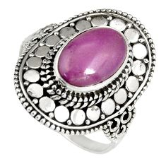 925 silver 4.52cts natural purple phosphosiderite solitaire ring size 10 r19484