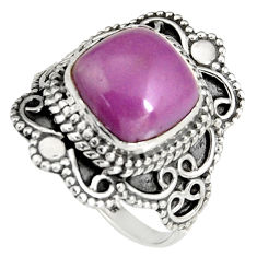 925 silver 5.38cts natural purple phosphosiderite solitaire ring size 7 r19497