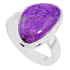 925 silver 9.18cts natural purple stichtite solitaire ring jewelry size 7 r66333