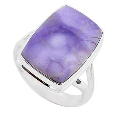 925 silver 9.99cts natural purple tiffany stone solitaire ring size 8 r95752