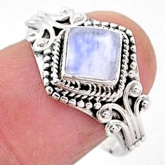 925 silver 1.45cts natural rainbow moonstone solitaire ring jewelry size 8 t2112