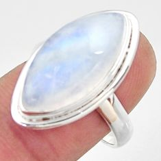 925 silver 13.27cts natural rainbow moonstone solitaire ring size 8 r37716