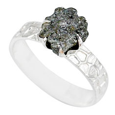 925 silver 1.74cts natural raw diamond rough solitaire ring size 8 r79354