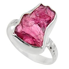 925 silver 6.56cts natural red garnet rough solitaire ring jewelry size 7 r29677