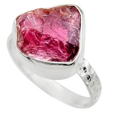 925 silver 5.57cts natural red garnet rough solitaire ring size 6.5 r29680