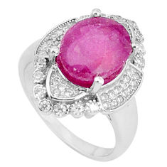 925 silver 6.89cts natural red ruby topaz solitaire ring jewelry size 7.5 c17679