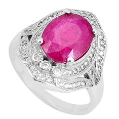 925 silver 6.62cts natural red ruby topaz solitaire ring jewelry size 8 c17668