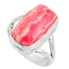 925 silver 7.51cts natural rhodochrosite inca rose solitaire ring size 8 r28024