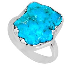925 silver 8.03cts natural sleeping beauty turquoise rough ring size 7 r62285