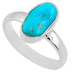 925 silver 5.15cts natural sleeping beauty turquoise rough ring size 7 r65584