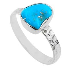 925 silver 3.98cts natural sleeping beauty turquoise rough ring size 8 r65589