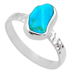 925 silver 4.22cts natural sleeping beauty turquoise rough ring size 8 r65600