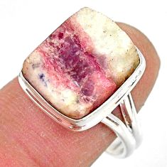 925 silver 10.13cts natural tourmaline in quartz solitaire ring size 8.5 r85765
