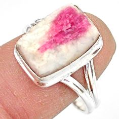 925 silver 6.49cts natural tourmaline in quartz solitaire ring size 9 r85775