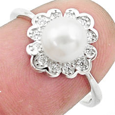 925 silver 2.76cts natural white pearl topaz solitaire ring size 7 c25349