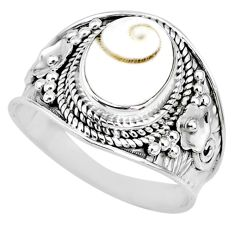 925 silver 4.06cts natural white shiva eye oval solitaire ring size 8.5 r74708