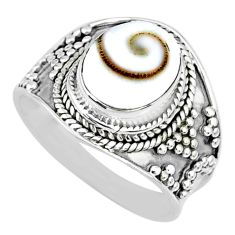 925 silver 4.06cts natural white shiva eye oval solitaire ring size 7.5 r74716