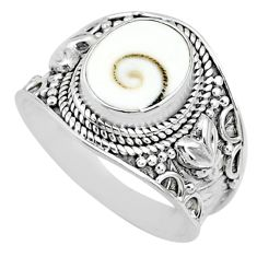 925 silver 4.51cts natural white shiva eye oval solitaire ring size 8.5 r74732