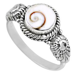 925 silver 2.42cts natural white shiva eye round solitaire ring size 7 r57365