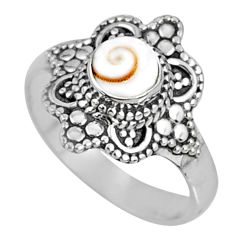 925 silver 0.71cts natural white shiva eye solitaire ring jewelry size 6 r61124