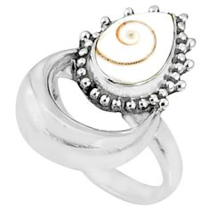 925 silver 2.81cts natural white shiva eye solitaire ring jewelry size 6 r67292