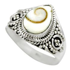 925 silver 2.28cts natural white shiva eye solitaire ring jewelry size 7 r52499