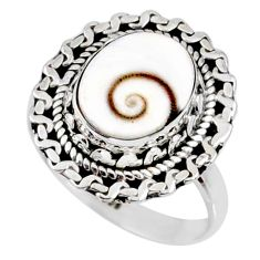 925 silver 3.59cts natural white shiva eye solitaire ring jewelry size 7 r58951