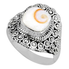 925 silver 3.42cts natural white shiva eye solitaire ring jewelry size 7 r61050