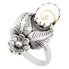 925 silver 4.19cts natural white shiva eye solitaire ring jewelry size 7 r67492