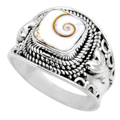925 silver 3.16cts natural white shiva eye solitaire ring jewelry size 8 r53679
