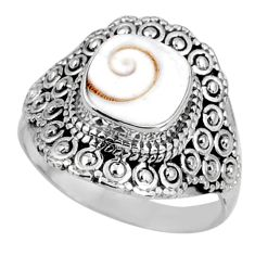 925 silver 3.41cts natural white shiva eye solitaire ring jewelry size 8 r61052