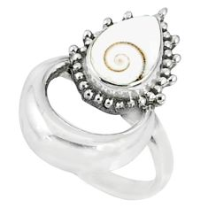 925 silver 2.97cts natural white shiva eye solitaire ring jewelry size 8 r67297