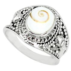 925 silver 4.29cts natural white shiva eye solitaire handmade ring size 8 r74719