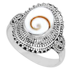 925 silver 4.51cts natural white shiva eye solitaire ring jewelry size 9 r61090