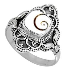 925 silver 3.18cts natural white shiva eye solitaire ring jewelry size 9 r61110