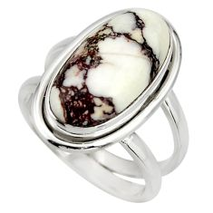 925 silver 6.18cts natural wild horse magnesite solitaire ring size 6.5 r27217