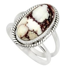925 silver 6.62cts natural wild horse magnesite solitaire ring size 8.5 r27220